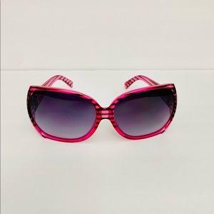 VonZipper Trudie Pink/Black Striped Sunglasses